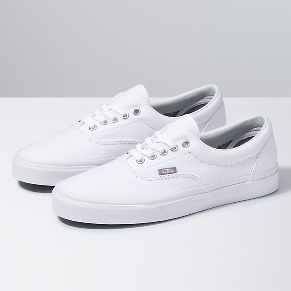 vans era white shoes
