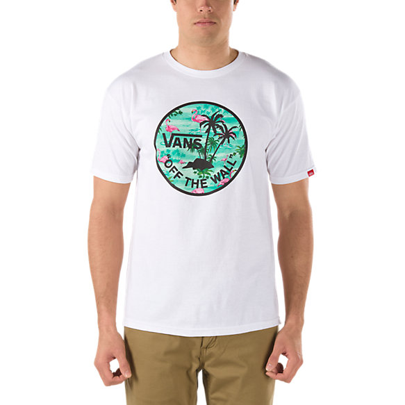 Flamingo Palm Island Fill Tee