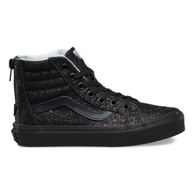 Vans Kids Shimmer SK8-Hi Zip (black/black)