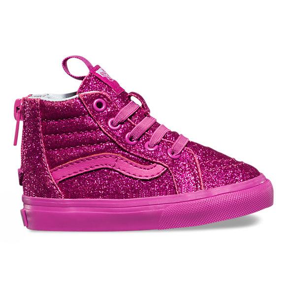 Toddlers Shimmer SK8 Hi Zip Shop Kids Shoes At Vans