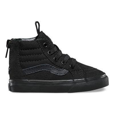Vans Toddlers Pop Check SK8-Hi Zip (black/black) Kids Shoes