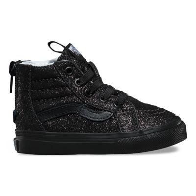 Vans Toddlers Shimmer SK8-Hi Zip (black/black)