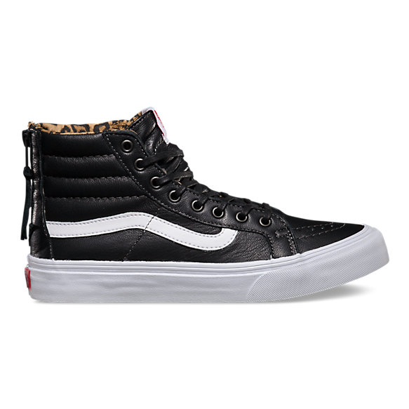 f78500859d2d49 Leather SK8-Hi Slim Zip