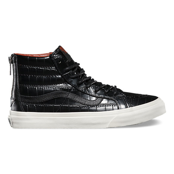 Croc Leather Sk8 Hi Slim Zip Shop Womens Shoes At Vans