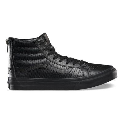 Vans Shoes Perf Leather SK8-Hi Slim Zip (black/black)
