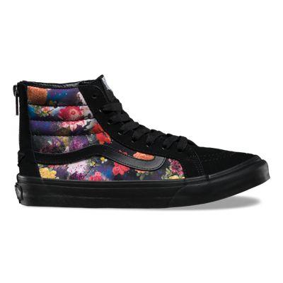 Vans Shoes Galaxy Floral SK8-Hi Slim Zip (black/black)