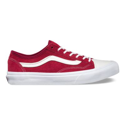 vans slip on red