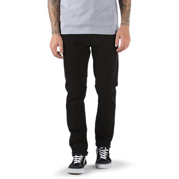 V46 overdye black taper jean shop at vans