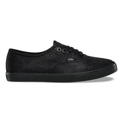 Vans Shoes Glitter Textile Authentic Lo Pro (black/black)