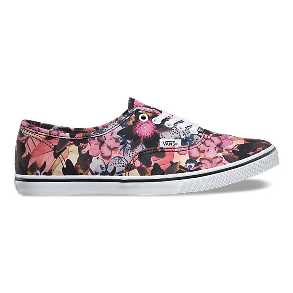 floral authentic lo pro vans