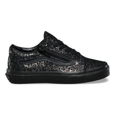 Vans Kids Metallic Leopard Old Skool Zip (black/black)