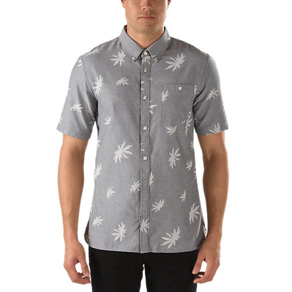 La Palma Palm Print Buttondown Shirt