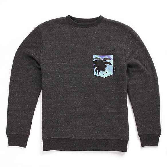 Boys Palm Camo Pocket Crew Sweatshirt