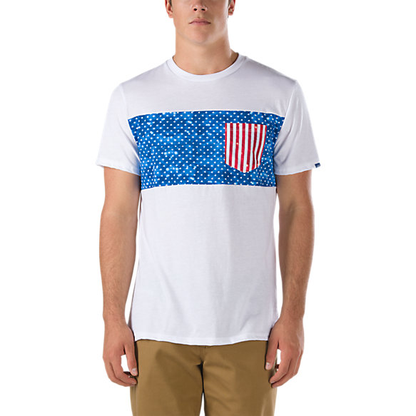 Print band pocket t shirt shop at vans for Pocket t shirt printing