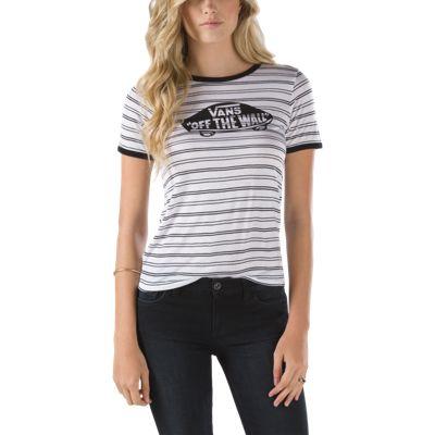 Vans Skate Stripe Ringer T-Shirt (White/Black/Black)