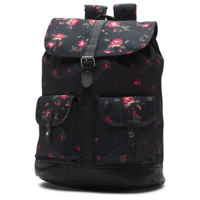 Vans Lean In Backpack (Floral Black Black)