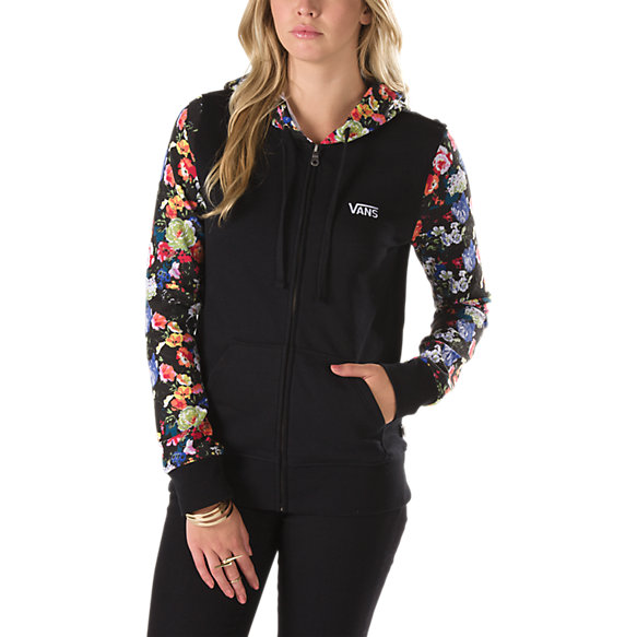 Floral Zip Hoodie Hood | Shop Womens Sweatshirts At Vans