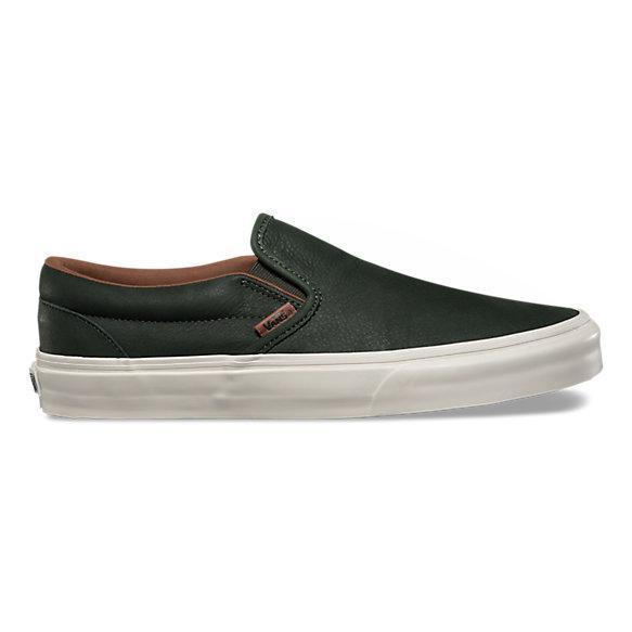 premium leather classic slip on dx shop shoes at vans. Black Bedroom Furniture Sets. Home Design Ideas