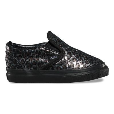 Vans Toddlers Metallic Leopard Slip-On (black/black)