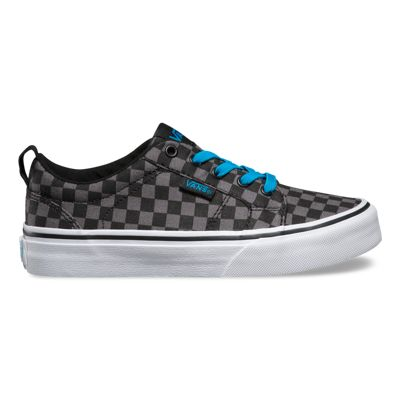 Vans Kids Bishop Slip-On (Checkers black/black) Kids Shoes