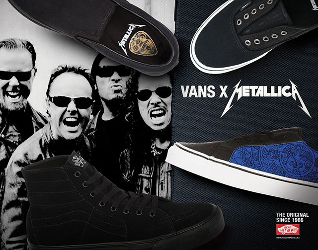 f4d28fd92b5 Vans colabora con rock band Metallica. Cada miembro de Metallica - James  Hetfield