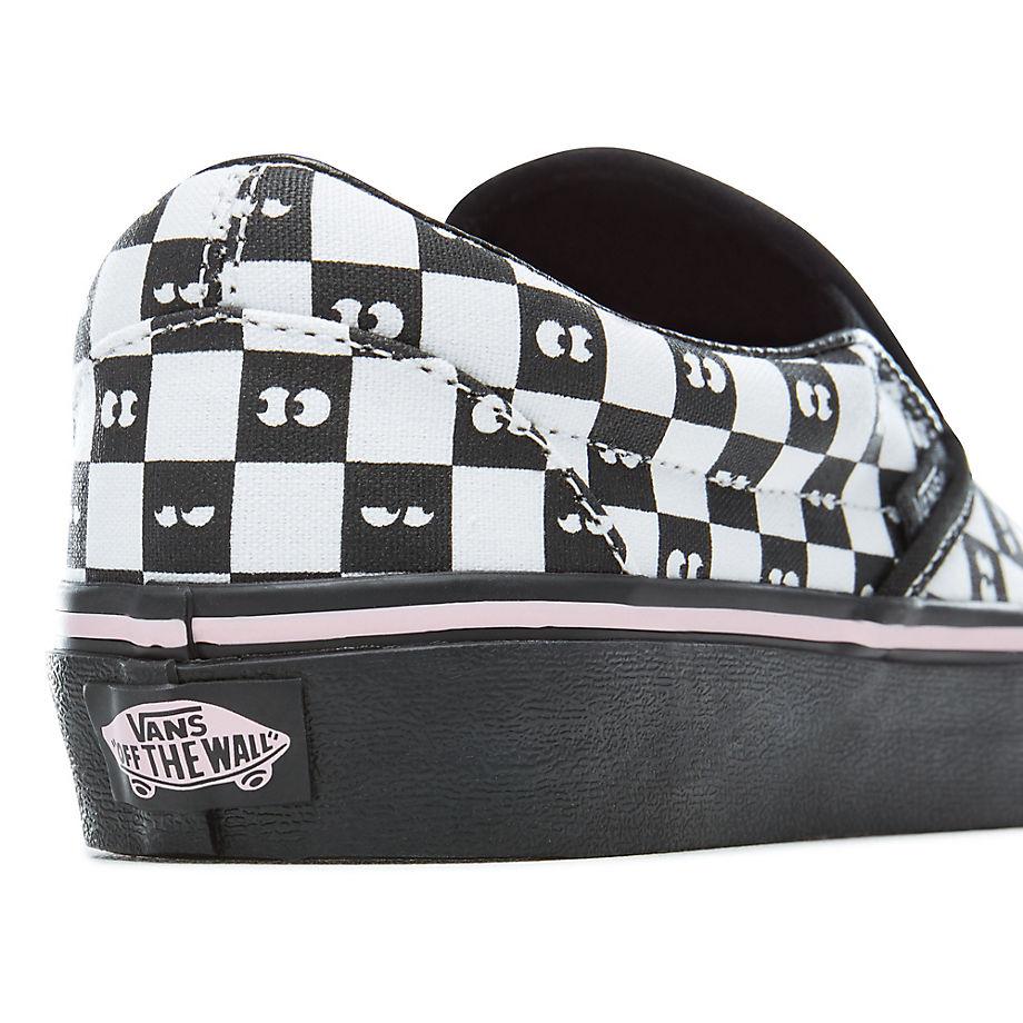Vans X Lazy Oaf Checkerboard Classic Slip on Schuhe