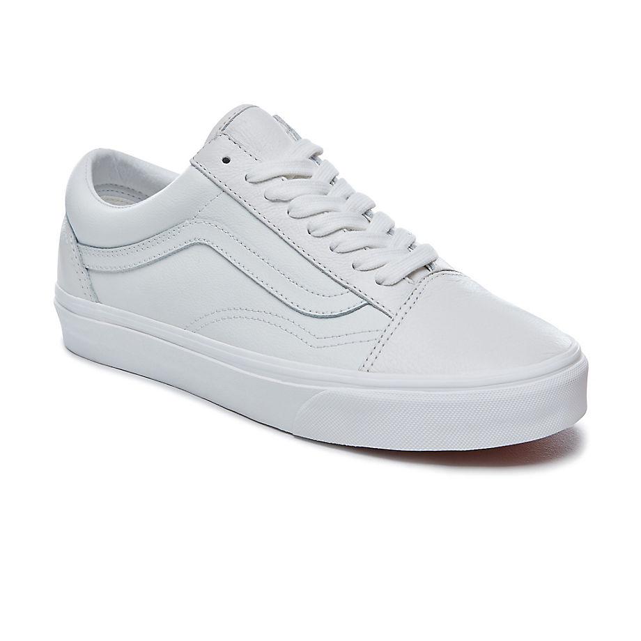 Vans Old Skool Lederschuhe (blanc De Blanc) Herren Weiß