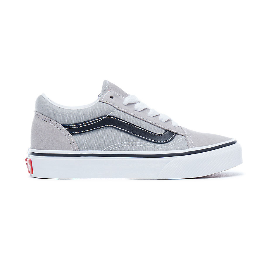 04a922a66c73 Vans Kids Old Skool Shoes (drizzle-black) Kids Grey