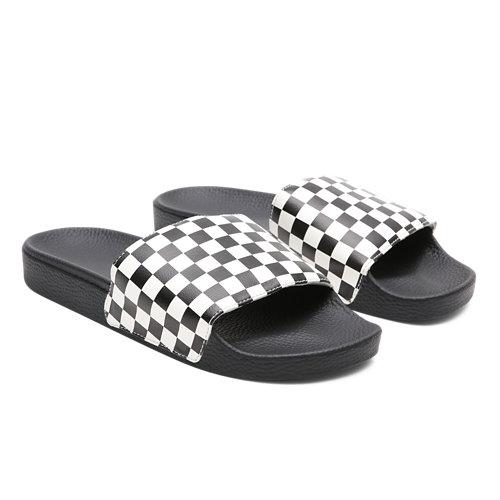 Checkerboard+Slide-On+Sandals
