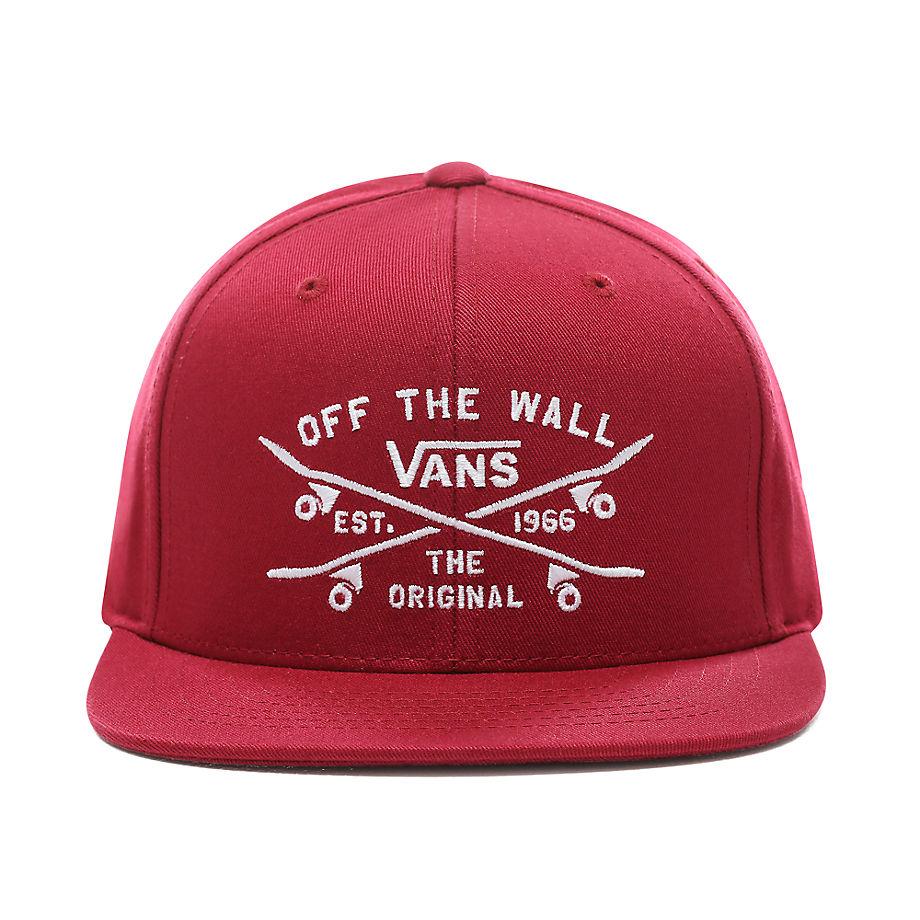 1609a69cf4b7c Vans Kids Skate Lock Up Snapback Hat (rhumba Red) Kids Red