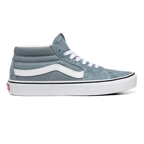Deboss+Checkerboard+Sk8-Mid+Shoes