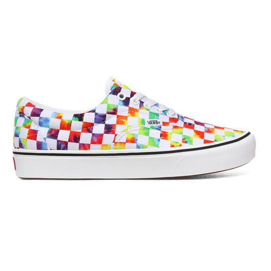 Tie-Dye Checker ComfyCush Era Shoes | Vans