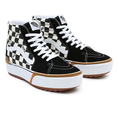 Checkerboard+Sk8-Hi+Stacked+Shoes