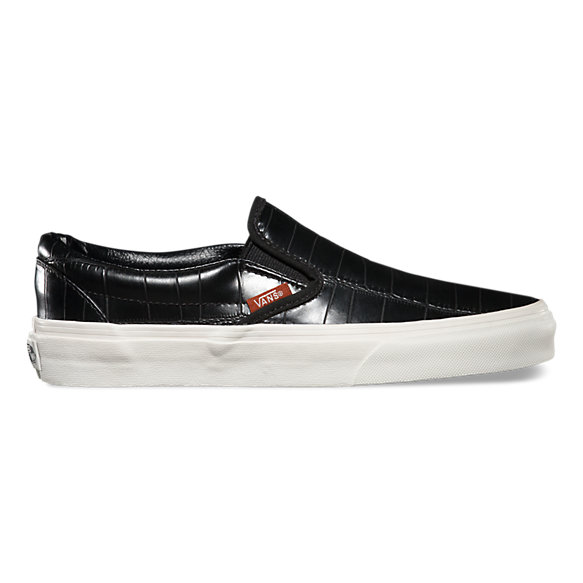 vans black leather trainers women