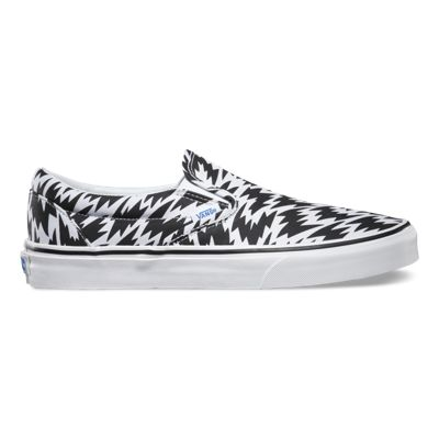 Vans Sneakers Classic Slip On Black White Print Eley
