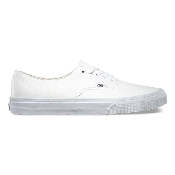 vans authentic white leather
