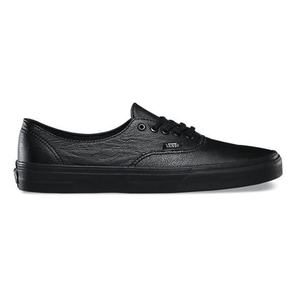 vans authentic black leather