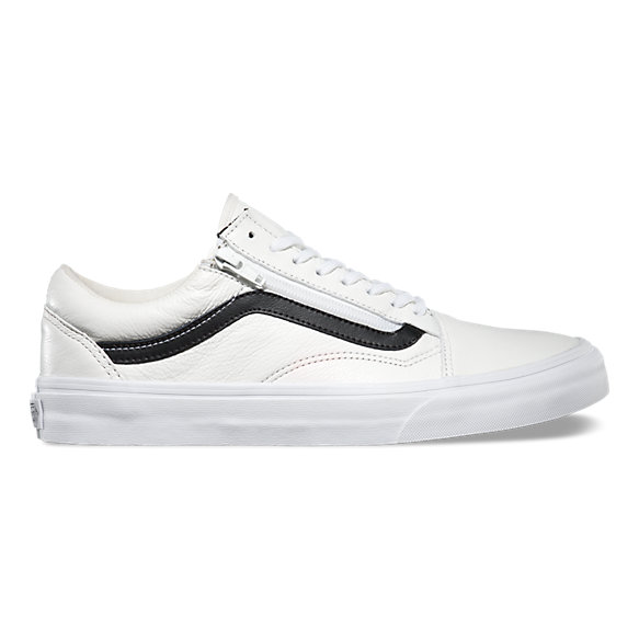 old shool vans white