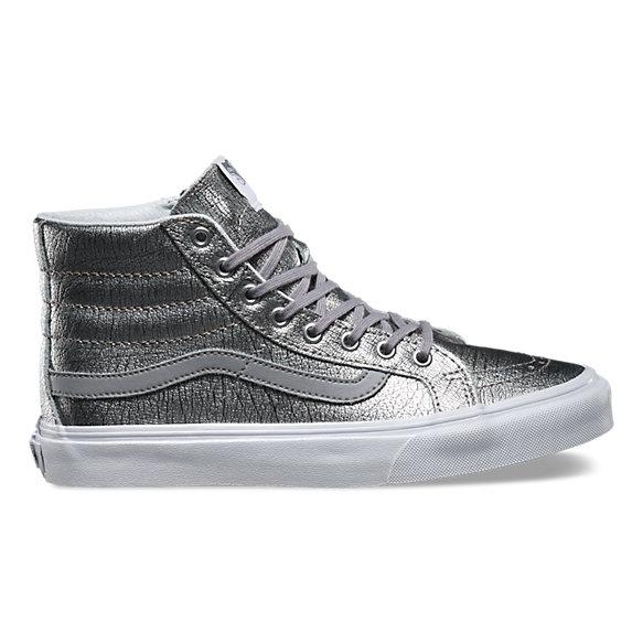 Vans Silver Metallic Women Shoes