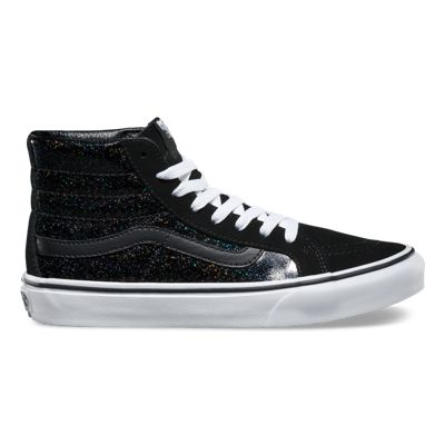 Unisex Shoes Vans SK8-Hi Slim (Patent Galaxy) Black/True White
