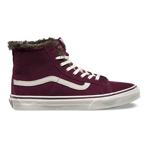 Fur Lining Sk8 Hi Slim Shop Womens Shoes At Vans