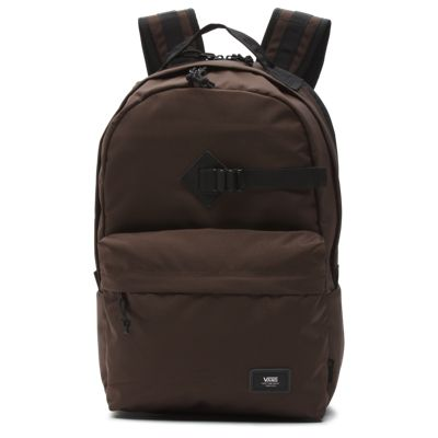 The Old Skool Travel Backpack is a 100% polyester backpack made with CORDURA® fabrics that are recognized for their long-lasting durability and resistance to abrasion, tearing, and scuffs. Featuring one large main compartment, ergonomic shoulder straps, a comfortable mesh back panel, and an adjustable sternum strap, it also includes a padded, lie-flat laptop compartment for checkpoint-friendly travel and a front zip pocket with an organizer for quick access. Measuring 18 L x 12 W x 6 D inches, Old Skool Travel Backpack has a 26-liter capacity.