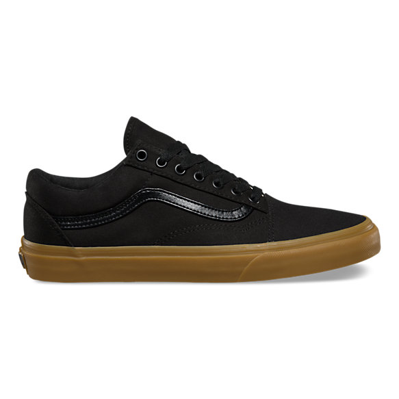 Vans Black Leather School Shoes