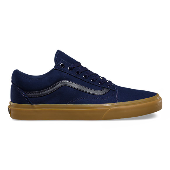 vans old skool pro gum sole blue nz