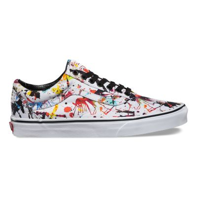 Vans OLD SKOOL Classics paint splatter black true white