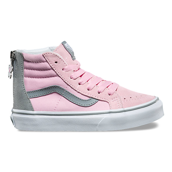 Kids Flower Zip SK8-Hi Zip