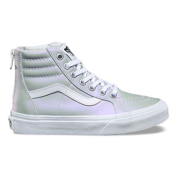 Kids Muted Metallic SK8-Hi Zip