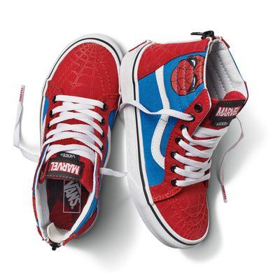 b91055908bbd Vans X Marvel Kids Sk8-Hi Zip