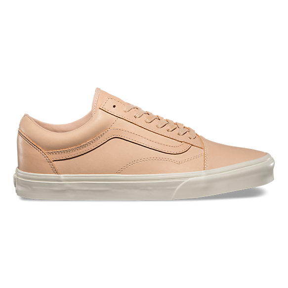beige leather vans old skool