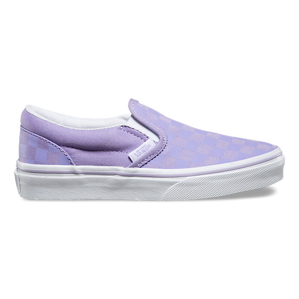 Kids Tonal Check Slip-On | Shop Kids Shoes At Vans